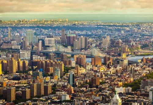 A bird's-eye view of The Tillary Hotel Brooklyn