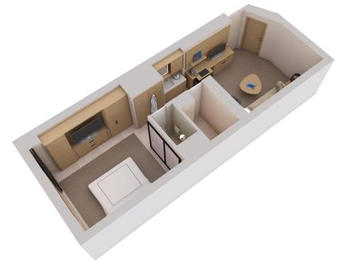 The floor plan of Conrad New York Downtown