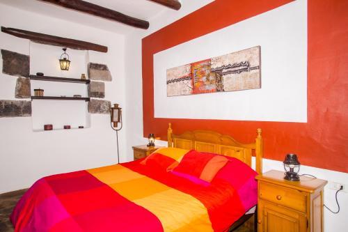 Cama o camas de una habitación en Apartamento Los 4 Nobles