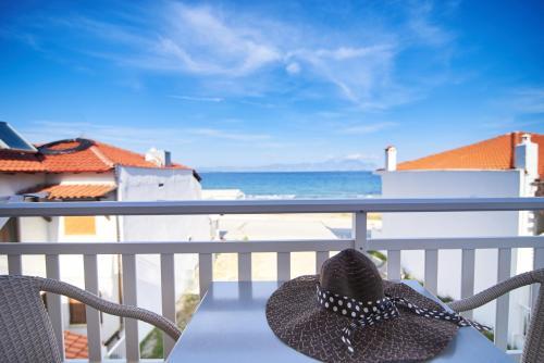 A balcony or terrace at Hotel Agni On The Beach