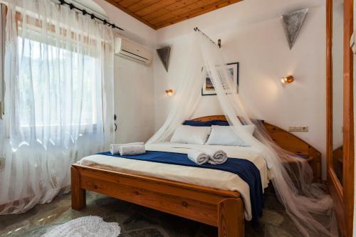 A room at Karavos Apartments and Villa