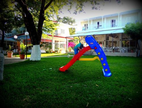 Children's play area at Avra Beach Hotel