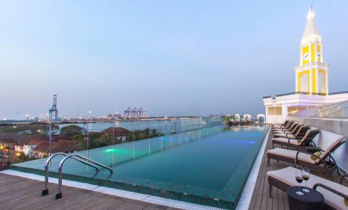 """The swimming pool at or close to Fragrant Nature Kochi - """"A Classified Five Star Hotel"""""""
