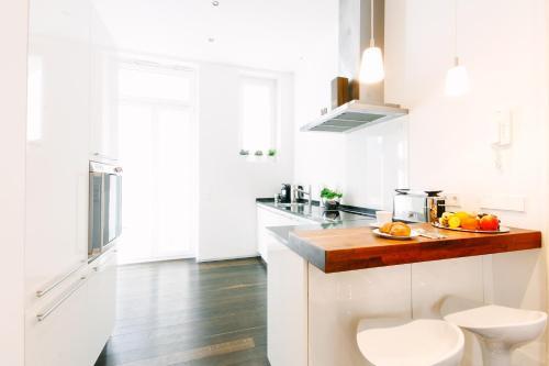 Küche/Küchenzeile in der Unterkunft Business Apartment Deluxe
