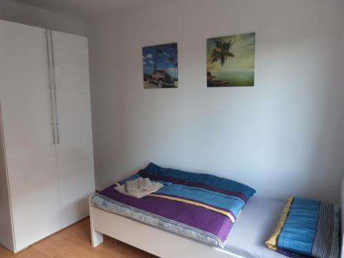 Ein Bett oder Betten in einem Zimmer der Unterkunft Wohnung im Zentrum des Ruhrgebiets