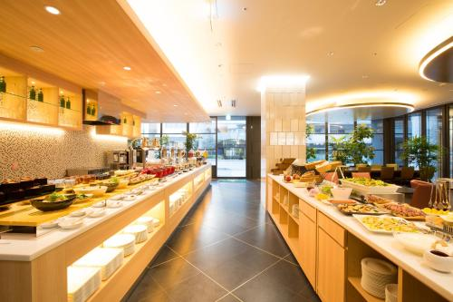 A restaurant or other place to eat at Urban Hotel Kyoto Nijo Premium