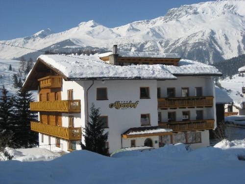 Alpenhof Pension-Garni during the winter