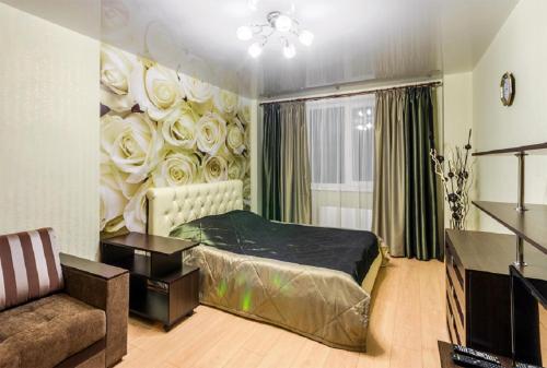Кровать или кровати в номере ATLANT Apartments 106