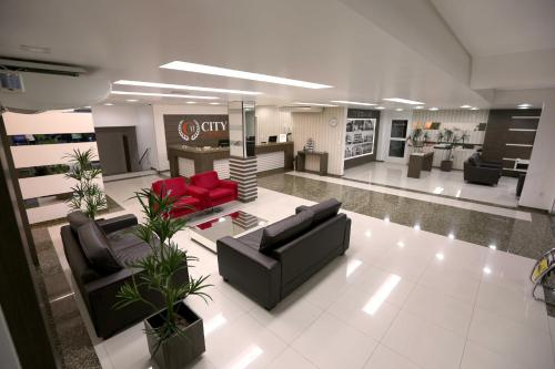 The lounge or bar area at City Hotel