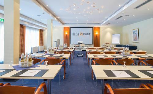 Der Geschäftsbereich oder Konferenzraum in der Unterkunft Hotel Fulda Mitte