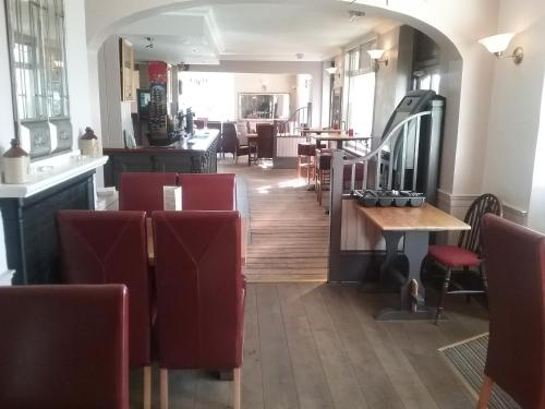 The lounge or bar area at Lower Bell