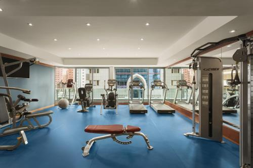 The fitness center and/or fitness facilities at Hawthorn Suites by Wyndham Abu Dhabi City Center