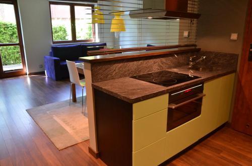 Kuchnia lub aneks kuchenny w obiekcie Apartament Agata