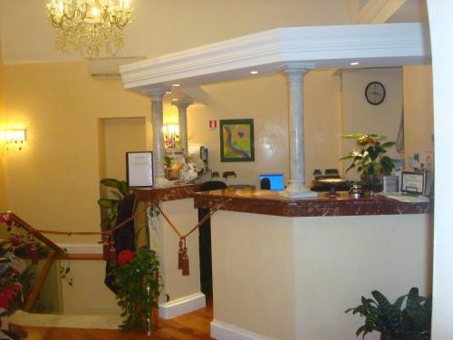 The lobby or reception area at Hotel Demetra Capitolina
