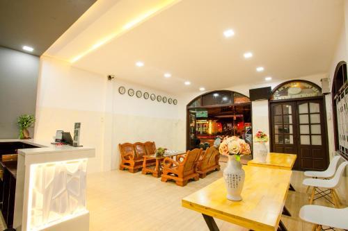 The lobby or reception area at Hoi Pho