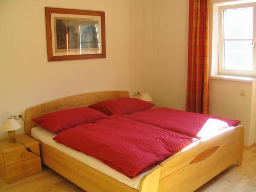سرير أو أسرّة في غرفة في بنسيون سارشتاين