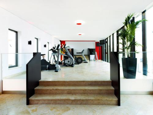 The lobby or reception area at DORMERO Hotel Kelheim