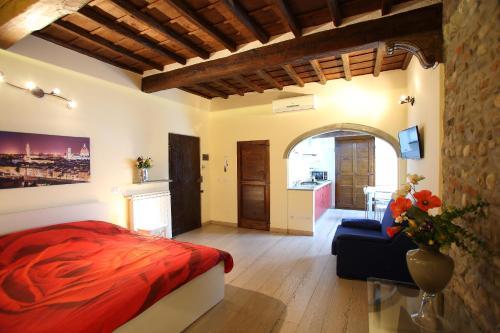 Zona de estar de Visit Florentia Apartment