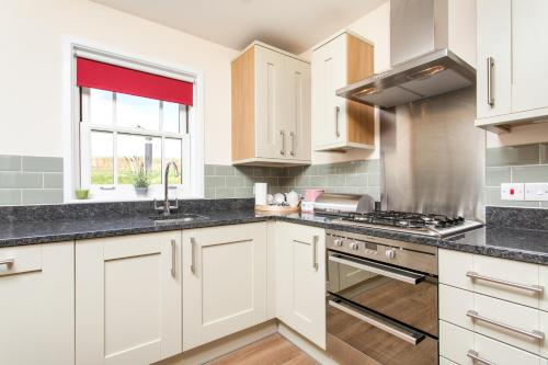 A kitchen or kitchenette at Watercress Lodges & Campsite