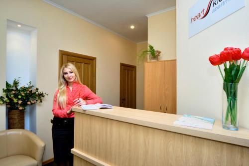 Lobby/Rezeption in der Unterkunft Heart Kiev Apart-Hotel