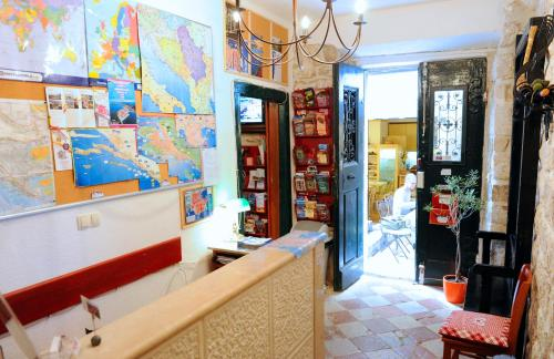 The lobby or reception area at Old Town Hostel