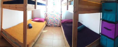 Letto o letti a castello in una camera di Bhavana Surf House