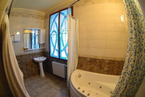 Ванная комната в Отель Викинг