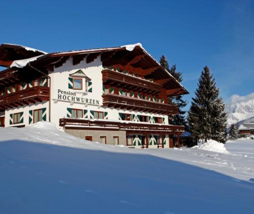 Hotel Garni Hochwurzen v zimě