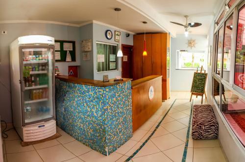 O saguão ou recepção de Guarujá Hostel