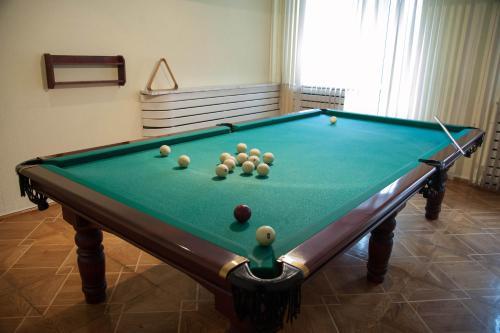 A pool table at Yubileinaia