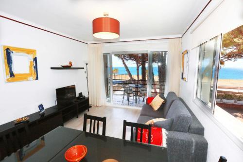 Zona de estar de La Torre - Villa Rosamar Beach