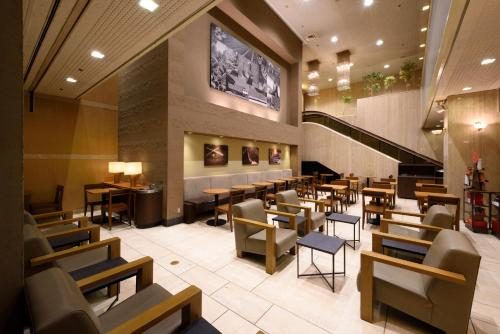 A restaurant or other place to eat at Hotel Royal Morioka