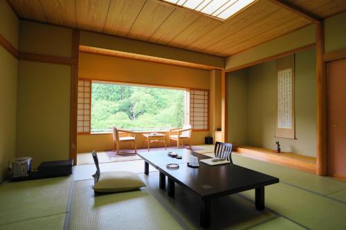 Een zitgedeelte bij Ginzanso