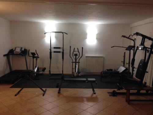The fitness center and/or fitness facilities at Hotel Ispinigoli