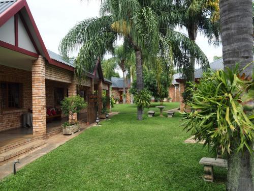 A garden outside Kwalala Lodge