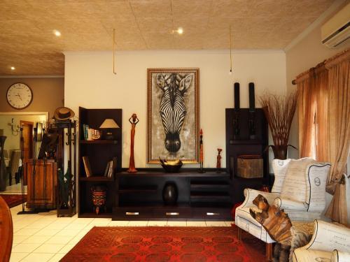 A seating area at Kwalala Lodge