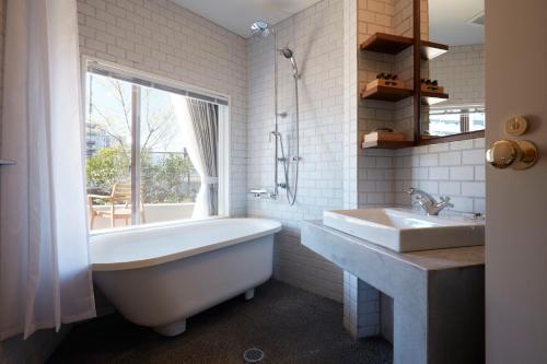 A bathroom at Matsumoto Hotel Kagetsu
