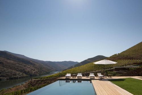 Uma vista geral da montanha ou uma vista da montanha a partir do alojamento de turismo rural