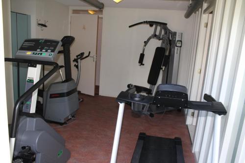 Het fitnesscentrum en/of fitnessfaciliteiten van Hotel Restaurant 't Klokje