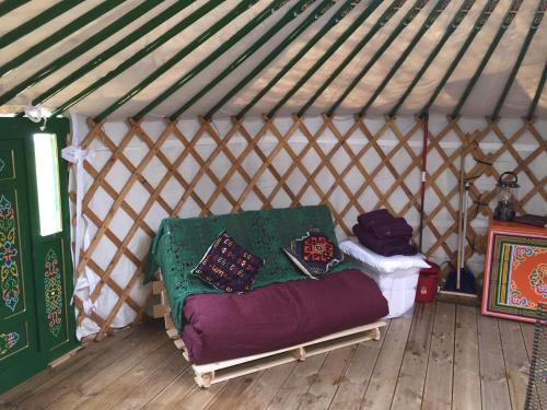 A seating area at The Yurt