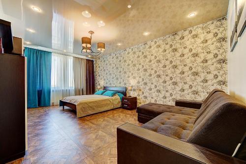 Гостиная зона в Apartmet Poltavskiy pr. 2