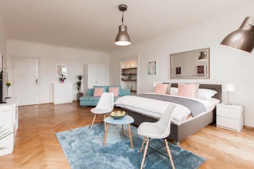 Area soggiorno di Prague Center Apartments