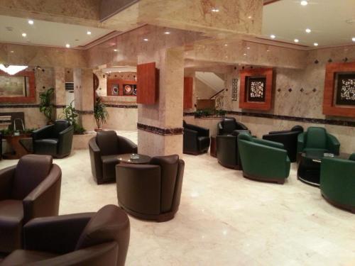 منطقة الاستقبال أو اللوبي في رافية الخليجية للشقق الفندقية