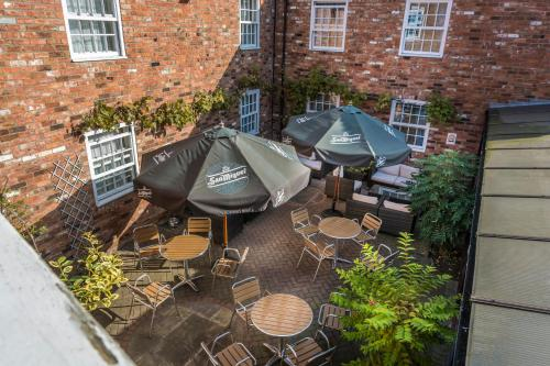 A restaurant or other place to eat at The Admiral Rodney Hotel, Horncastle, Lincolnshire