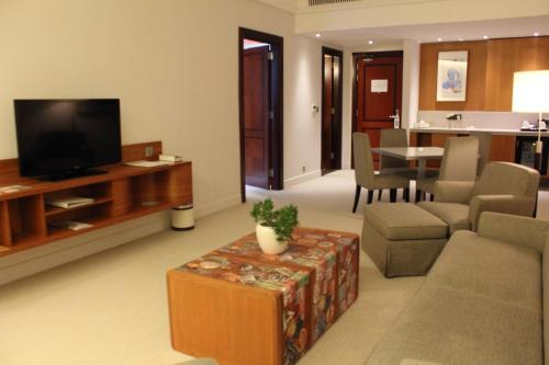 A seating area at K108 Hotel Doha