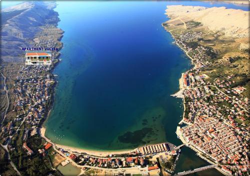 Vista aerea di Apartments Vuleta