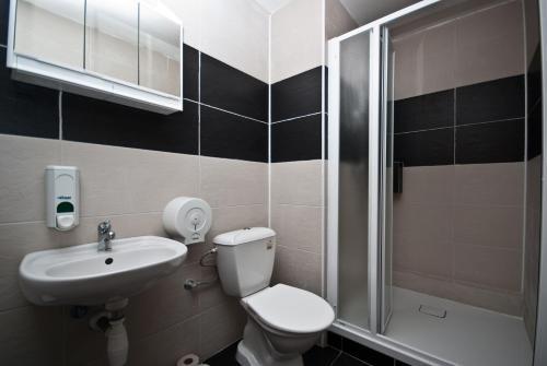 Koupelna v ubytování Areál Přístav