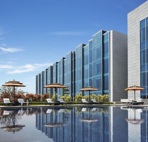 The swimming pool at or near Taj Bangalore
