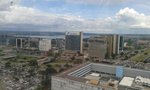 Uma vista aérea de Flat no Coraçao de Brasilia