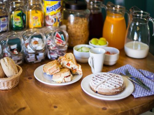 Breakfast options available to guests at Goodmorning Solo Traveller Hostel